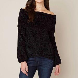 Onetheland NWT Black Off the Shoulder Sweater